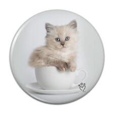 Ragdoll Tiffany Cat Kitten Tea Cup Ride Button Refrigerator Magnet