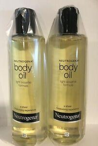 Neutrogena Body Oil Light Sesame Formula, Original 8.5 oz (Pack of 2) New