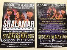 2x flyer SHALAMAR A Night To Remember London Palladium