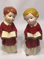 VTG Mid-Century PARMA by AAI Japan Ceramic Choir Boy & Girl Christmas Carolers
