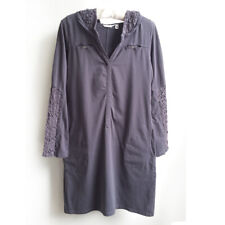 Athleta Womens Carried Away Crochet Dress Beach Cover-up Asphalt sz S