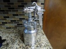 Devilbiss Mbc Spray Gun And Canister With # 30 Tip Stainless Steel Super Nice