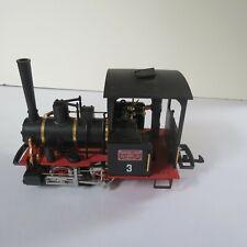 More details for lgb g gauge 23140, black red 0-4-0, no 3 field railway steam loco the big train
