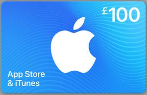 iTunes Gift Card UK £100 GBP Apple App Store Code   £100 Pound UK British
