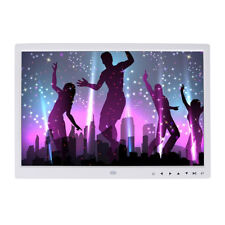 15in HD Digital Photo Frame Calendar LED TFT LCD Mp3 Audio Music Video Player UK