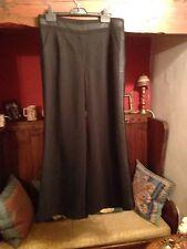 "Bnwot Diane Von Furstenberg Silk Wool Wide Leg Black Trousers 12 W33""L30""  £299"
