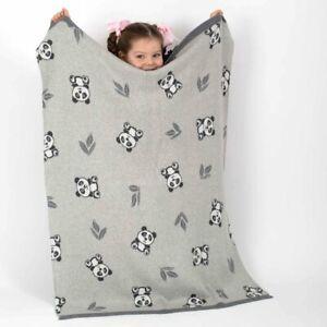 Panda Bear Newborn Baby Cotton Cot Pram Blanket Bao Bao Boxed Baby Shower Gift