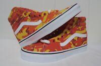 VANS Sk8-Hi Camo Orange & White High Top Lace-Up BMX Skate Shoes Size 7.5