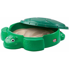 LITTLE TIKES TURTLE SANDBOX With Removable Lid Kids Toddler Child Backyard Play