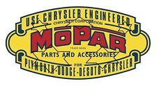VINTAGE MOPAR CHRYSLER  DODGE DECAL STICKER LABEL 230 X 120 mm HOT ROD