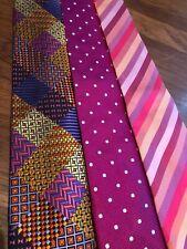 Lot 23 Luxury Silk Designer Neckties Brioni Canali Ted Baker + More Job Suit Tie