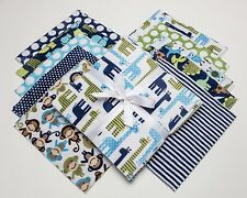 """Midnight Zoologie Shannon Fabrics Minky Cuddle Cakes 10"""" Precut Quilt Squares"""