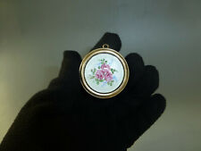 Vintage Reuge Swiss Miniature Music Box Pendant Guilloche Enamel Top (See Video)