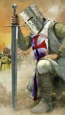 Plaque métal    chevalier templier     30 X 20 CM