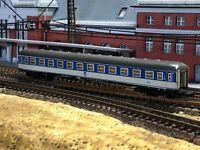 Marklin Z Blue/White 2nd Class Passenger Coach