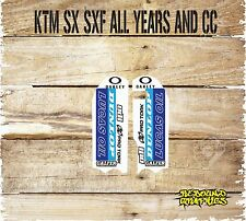 KTM Lower Forkguards Decals Stickers Graphics SX SXF EXC XC-Blue