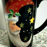 Santa Half Moon Stars Mug Coffee Cup Certified International Stephanie Stouffer
