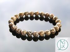 Leopardskin Jasper Natural Gemstone Bracelet 7-8'' Elasticated Healing Stone