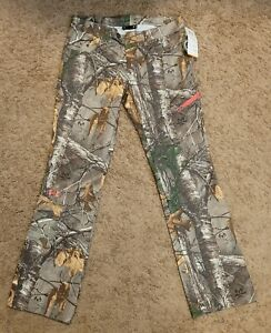 Under Armour Camo Scent Control Pants Green/Beige Women's Size 8 NWT Free Ship!