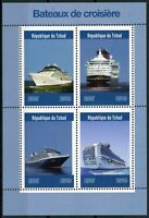 Chad 2019 MNH Cruise Ships 4v M/S Bateaux Martime Nautical Boats Stamps