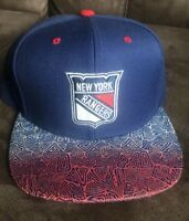 New York Rangers NHL Mitchell & Ness Adjustable Snap Back Hat Cap Blue Red