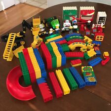 260 Piece Lot Of Lego Duplo Bricks, Truck, Helicopter, Digger, Pieces & More!