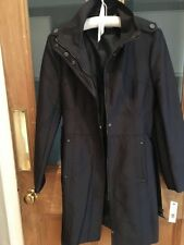Kenneth Cole Ladies Navy Raincoat Trench Size M 10/12 NEW!