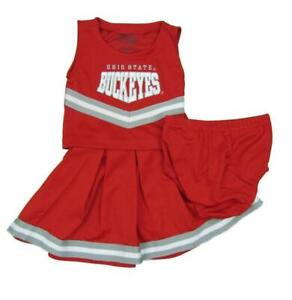 Ohio State Buckeyes Cheerleader 3-Piece Outfit Costume 12M-18M-24M-2T-3T-4T-5/6