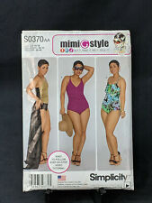 Simplicity MimiGstyle Sewing Pattern S0370 / 1116 Swimsuit Wrap Skirt 10-18