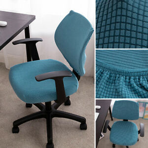 Elastic Universal Office Split Chair Cover Checked Cushion and Backrest Cover