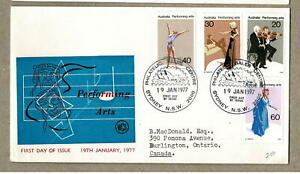 Australia 1977 Performing Arts on WCS Wesley FDC Cover Unsealed
