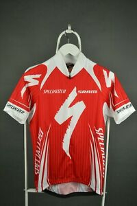 Mens Specialized Short Sleeved Shirt Cycling  Jersey Red Sram Size L