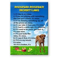 "Rhodesian Ridgeback Dog Fridge Magnet /""Dog is such a small word.../"" by Starprint"
