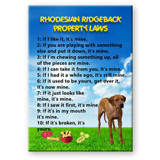 Rhodesian Ridgeback Property Laws Fridge Magnet New Dog