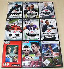 9 pc jeux collection FIFA f1 formule 1 Madden pes NHL Football Manager (pz 13 14)