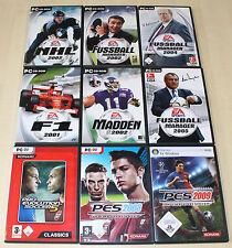 9 pc giochi collezione FIFA f1 formula 1 Madden PES NHL calcio manager (pz 13 14)