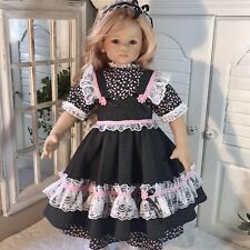 """🌸 """"Polka Dots and Posies� Pinafore Set for 32-34� Himstedt Dolls, Ooak 🌸"""