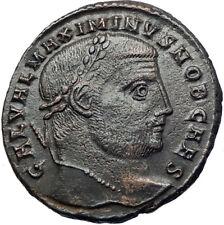 MAXIMINUS II Daia 308AD Silvered Ancient Roman Coin Nude Genius Wealth i73682
