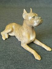 Royal Copenhagen Dog 1708/ 3635 Brindle Boxer Figurine Artist HNX