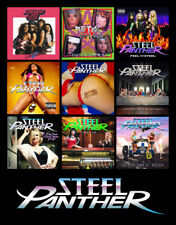 "STEEL PANTHER album discography magnet (4.5"" x 3.5"") heavy metal rules"