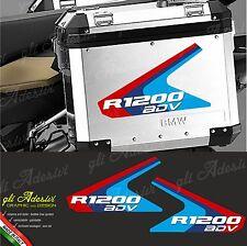 2 Adesivi Valigie Moto BMW R 1200 ADV Motorsport colors