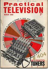 Practical Television Magazine March 1966 Integrated Tuners - Servicing BUSH TV99