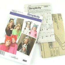 Simplicity Animal Hat Sewing Pattern 1953 Misses Child's Size S-L Uncut Owl Frog