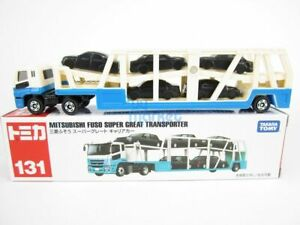 Takara Tomy Tomica #131 Mitsubishi Fuso Super Great Transporter Diecast Toy Car