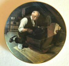 """Grandpa's Gift' by Norman Rockwell, 8.5"""" 1987 Coa Collector Plate 16402N"""