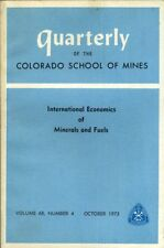 Quarterly Study of the Colorado School of the Mines: Volume 68, Number 4, Octobe