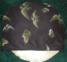SMALL DOG BED SLEEPING BAG, EAGLE-LEAVES PRINT, COMFY COZY