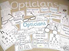 Opticians role play resources on CD - Ourselves, optician, health
