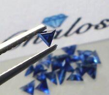 1x Saphir / Safir - Triangel facettiert Blau 2,5x2,5mm (1133B)
