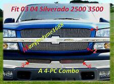 03 04 2004 Chevy Silverado 2500 3500 Billet Grille Comb
